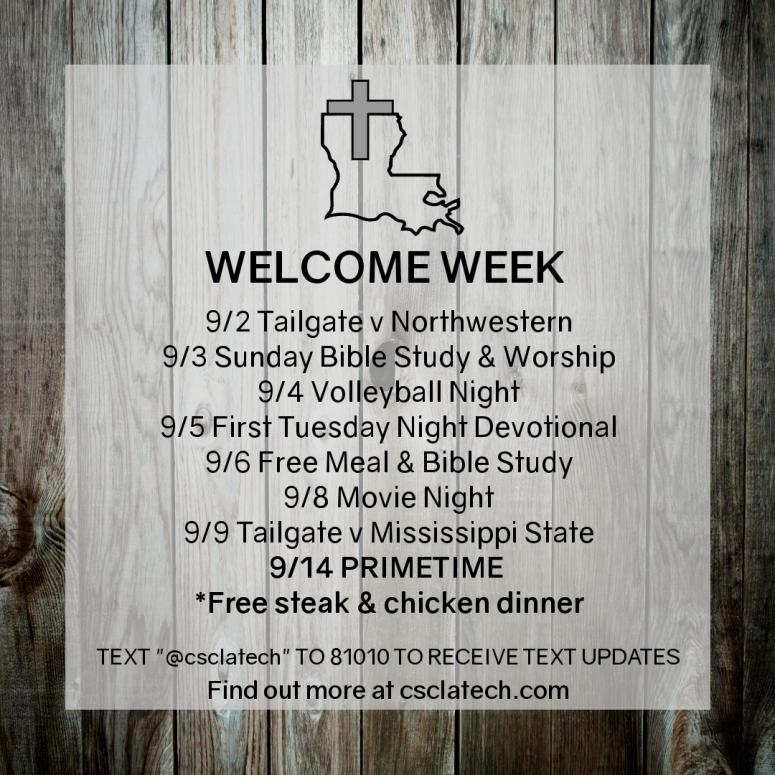 Welcome Week Instagram